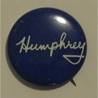 Humphrey Blue Campaign Button