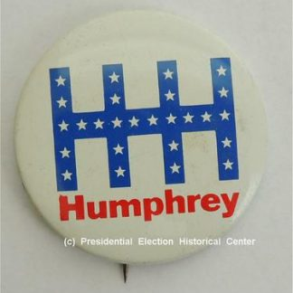 HHH Humphrey Campaign Button with white stars
