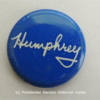 Humphrey Blue with White Letters Campaign Button