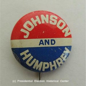 Johnson and Humphrey Campaign Button