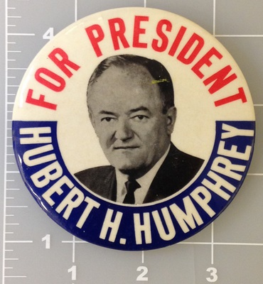 For President Hubert H. Humphrey campaign button