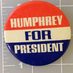 2.25 inch Humphrey for President patriotic campaign button