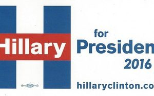 Hillary for President 2016 (Big H) bumper sticker