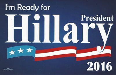 Im Ready for President Hillary 2016 bumper sticker (dark blue)