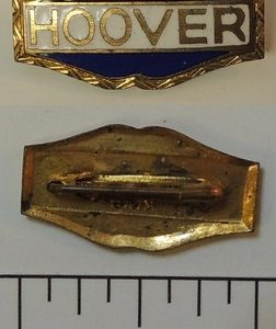 Hoover Enamel Name Lapel Pin - Red