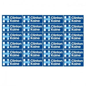 24 Pack - Hillary Clinton and Tim Kaine Blue bumper stickers