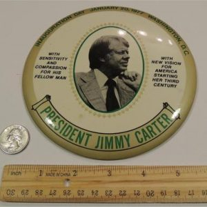 Jimmy Carter Inauguration Day 6 Inch Political Campaign Button Democratic