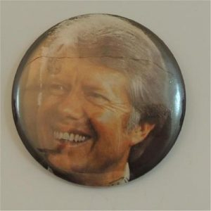 Jimmy Carter Smiling Face Campaign Button