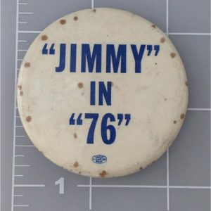 2.25 inch Jimmy in 76 white button with blue lettering