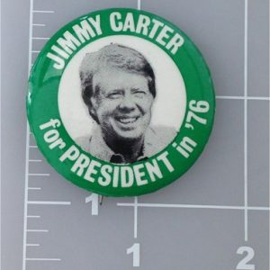Jimmy Carder For President in 76 Campaign Button