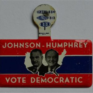LBJ Lapel Tab Campaign Pin - Johnson