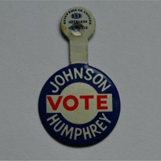 LBJ Lapel Tab Campaign Pin - Johnson Vote Humphrey