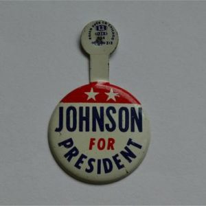 LBJ Lapel Tab Campaign Pin - Johnson for President