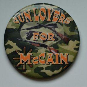 John McCain and Sarah Palin Campaign Buttons - Gunlovers for McCain
