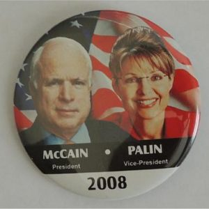 Campaign Buttons - McCain President / Palin Vice President 2008