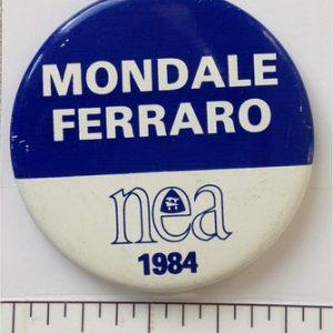 1984 Mondale Ferraro lithograph campaign button