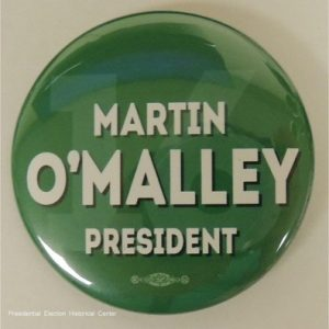 Martin OMalley President green 2016 campaign button that measures 2.25 inches
