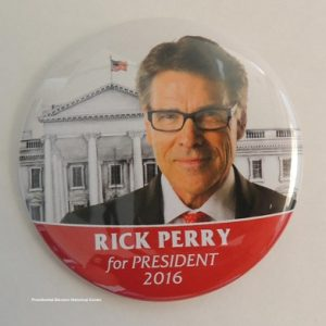 Rick Perry for President 2016. Beautiful campaign button with white house in background