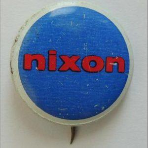 1970's Red Nixon on Blue background w/white border