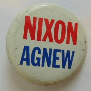 Nixon Agnew Campaign Button / Pin