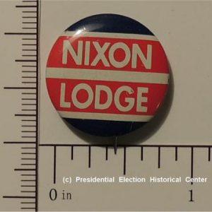 Richard Nixon - 5/8 inch Nixon Lodge no stars in the middle campaign button