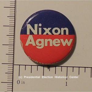 Richard Nixon 1- 1/8 inch Nixon Agnew campaign button