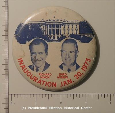 3.5 inch Richard Nixon Spiro Agnew Inauguration Button