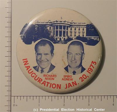 Richard Nixon 3-1/2 inch Richard Nixon Spiro Agnew Campaign Button