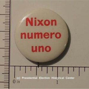 Richard Nixon 1 - 1/4 inch Nixon numero uno campaign button