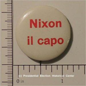 Richard Nixon 1 - 1/4 inch Nixon il capo campaign button
