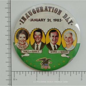 3 inch Inauguration Day Nancy and Ronald George and Barbara  Campaign Button