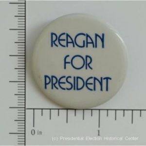 1 3 8 Inch White Reagan For President Campaign Button