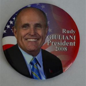 2008 Rudy Giuliani Campaign Button