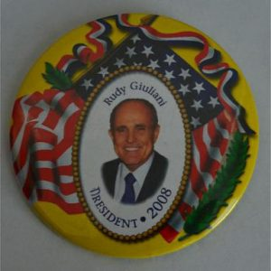 Rudy Giuliani for President Campaign Button 2008