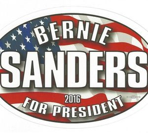 Bernie Sanders patriotic red