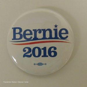 Bernie Sanders 2016 white campaign button