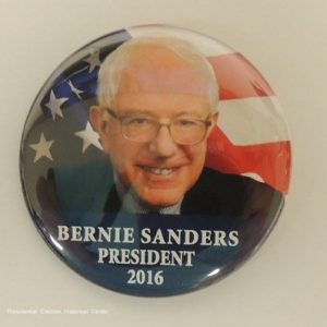 Bernie Sanders President 2016 face photo with flag background