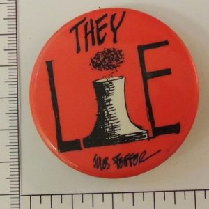 They Lie red nuclear special interest button