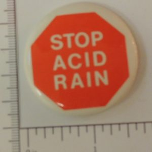 Stop Acid rain special interest button