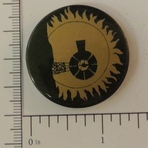 Black and gold solar wind special interest button