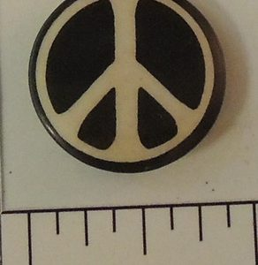 Peace Black and White special interest button