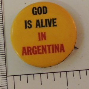God is Alive in Argentina special interest button