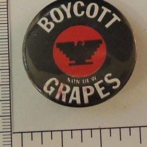 Boycott Grapes special interest button