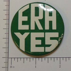 ERA Yes special interest button green with white letters