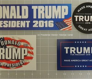 Donald Trump Complete Set of 4 Bumper Stickers - Top Left - Donald Trump President 2016 Measures 11 X 3.25