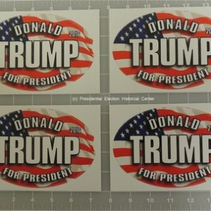 Donald Trump Complete Set of 4 Patriotic Stickers