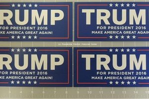 Trump Set of 4 Bumper Stickers (Larger Size)
