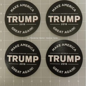 Donald Trump Complete Set of 4 black campaign bumper sticker