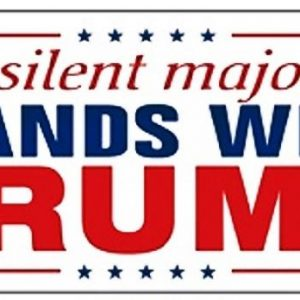 The Silent Majority Stands with Trump bumper sticker