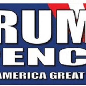 Trump Pence Make America Great Again patriotic bumper sticker